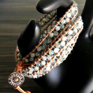 Victoria Emerson Crystal Bead Wrap Bracelet
